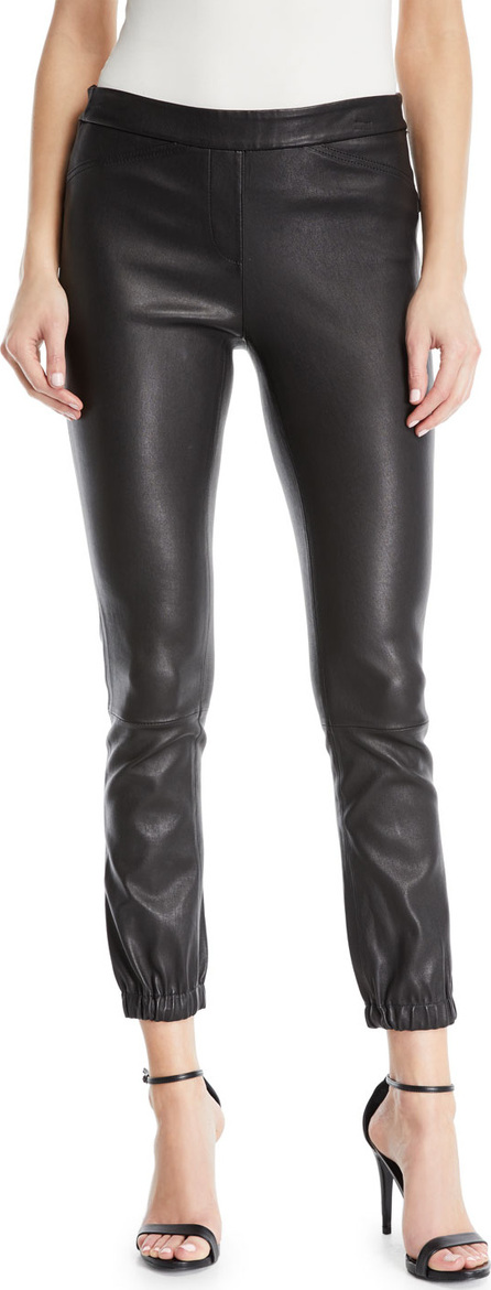 HALSTON HERITAGE Stretch Leather Leggings