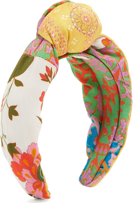 FIGUE Loulou graphic-print crepe headband