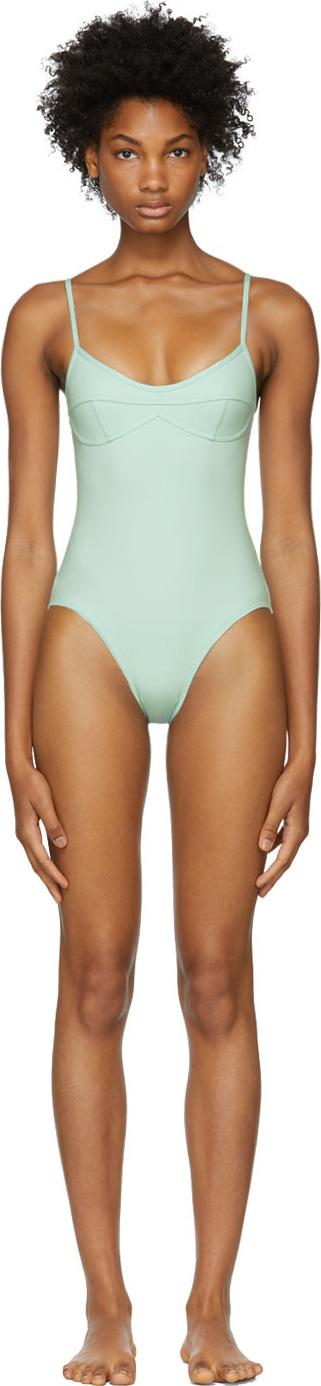 Her Line Green Sabine One-Piece Swimsuit