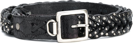 Golden Goose Deluxe Brand Plaited stud detail belt