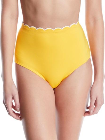 Kate Spade New York high-waist scalloped bikini swim bottoms