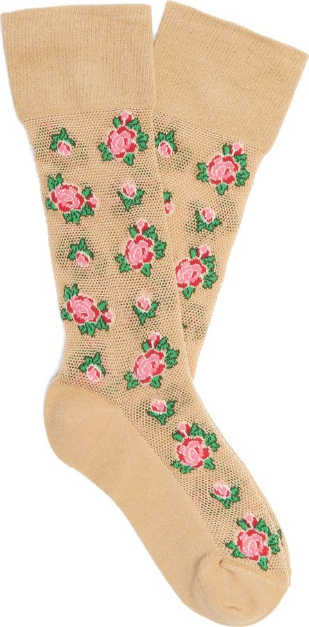 Gucci Floral-intarsia cotton-blend socks