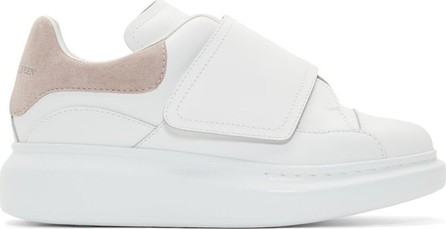 Alexander McQueen White & Taupe Flap Tab Oversized Sneakers