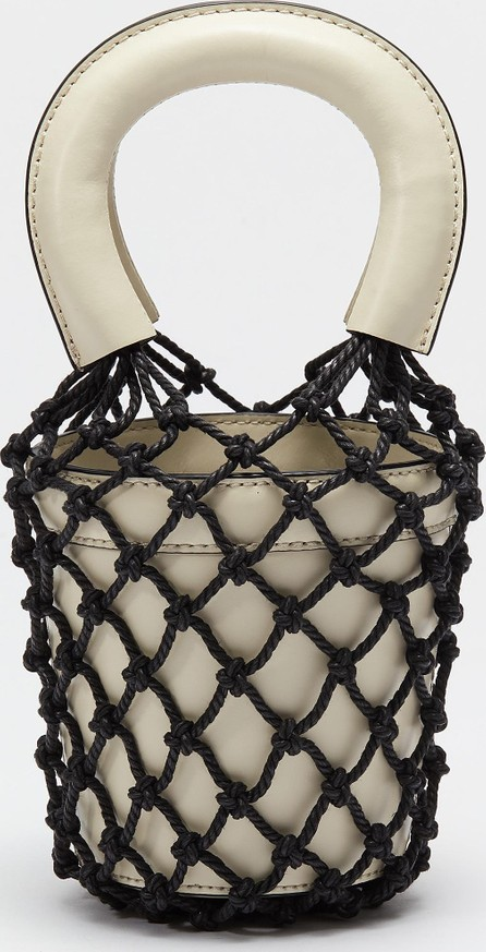 Staud 'Moreau' mini macramé net leather bucket bag