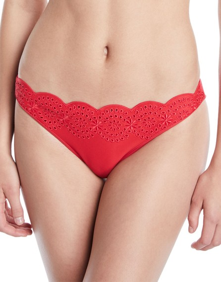 Stella McCartney Scalloped Broderie Anglaise Bikini Swim Bikini Bottom
