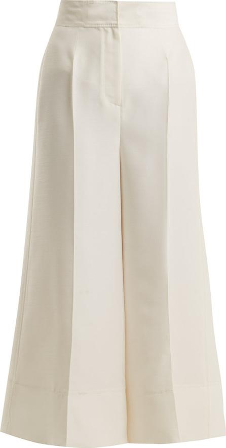 Roksanda Hasani wide-leg wool-blend trousers