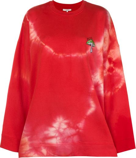 Ganni Oversized tie-dye sweatshirt