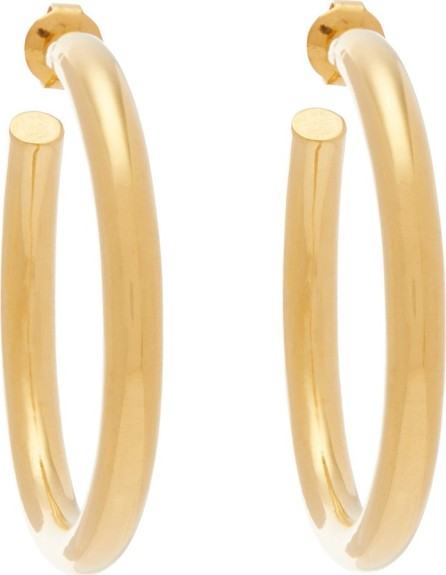 Misho Hollow Hoops 22kt gold-plated earrings