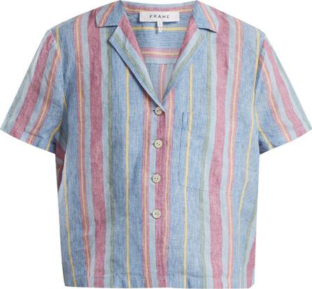 FRAME DENIM Patch-pocket linen shirt