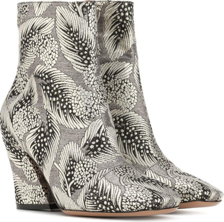 Brocade ankle boots
