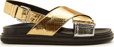Marni Watersnake-effect sandals
