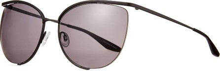 Barton Perreira Akua Semi-Rimless Cat-Eye Sunglasses