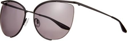 Barton Perreira Akua Semi-Rimless Cat-Eye Sunglasses