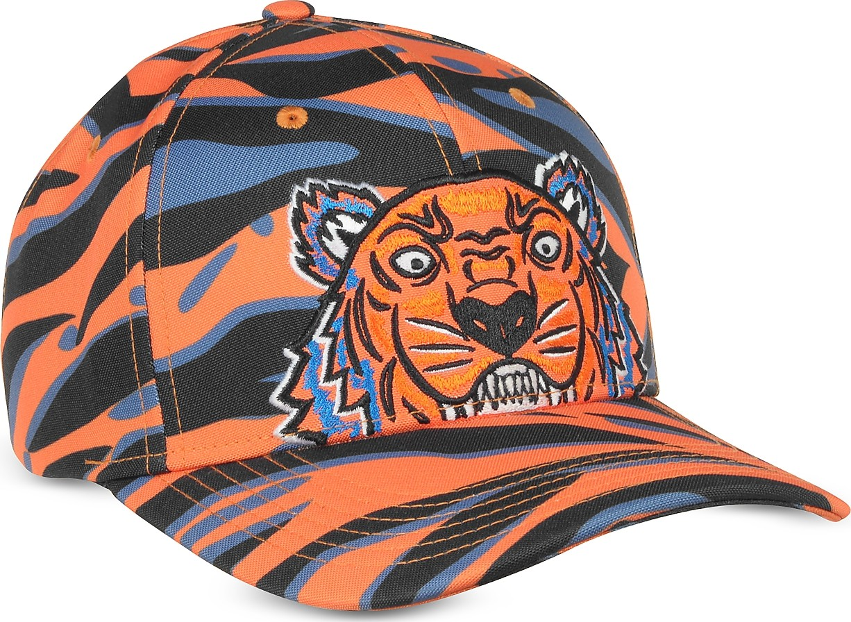 b53e5e1585f KENZO Kenzo Tiger Orange Cotton Hat.  124  104.4. Forzieri