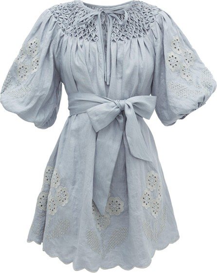 Innika Choo Hans Ufmafrok embroidered linen dress