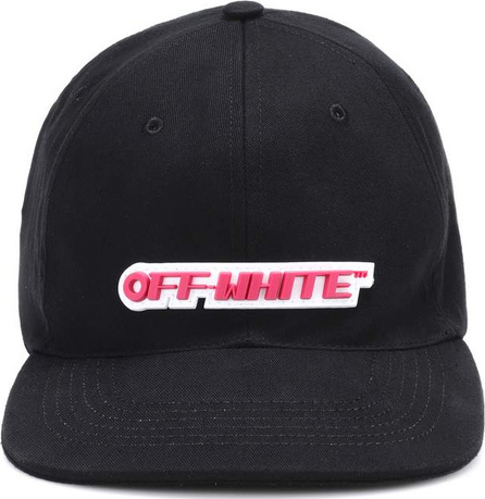 Off White Cotton baseball hat