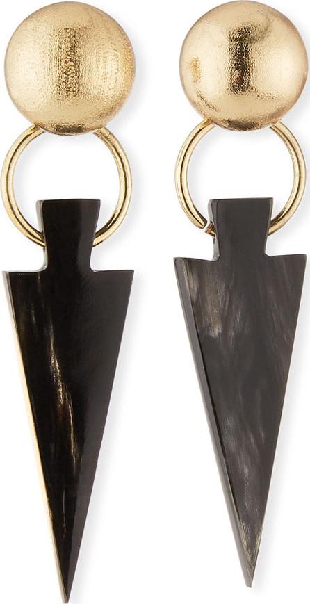 Akola Black Horn Arrow Earrings