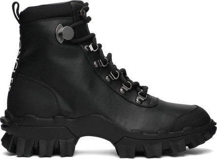 Moncler Black Leather Helis Boots