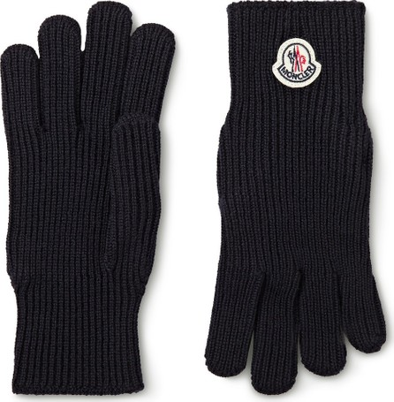 Moncler Logo-Appliquéd Virgin Wool Gloves
