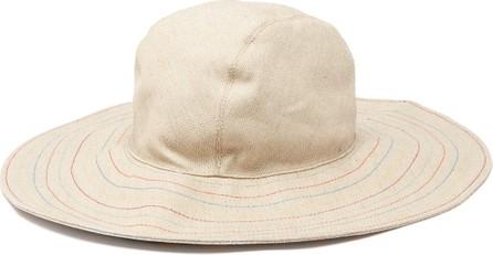 House of Lafayette Malini contrast-stitching linen bucket hat