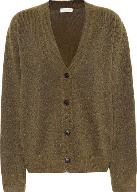 Dries Van Noten Metallic wool-blend cardigan