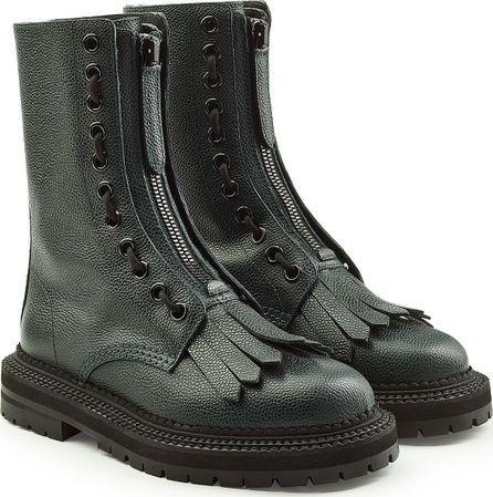 Burberry London England Leather Kiltie Boots