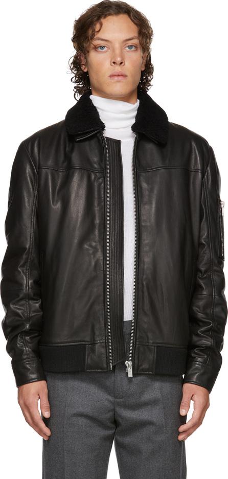 HUGO Black Leather Lannson Jacket