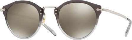 Oliver Peoples Two-Tone Round Photochromic Sunglasses