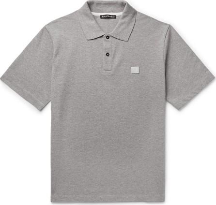 Acne Studios Elton Mélange Cotton-Piqué Polo Shirt