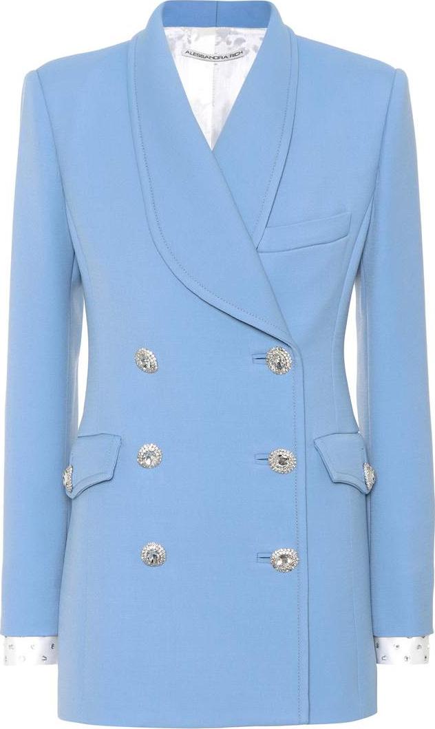 Alessandra Rich - Wool crêpe coat