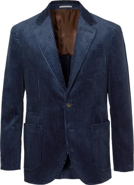 Brunello Cucinelli Royal-Blue Cotton-Corduroy Blazer