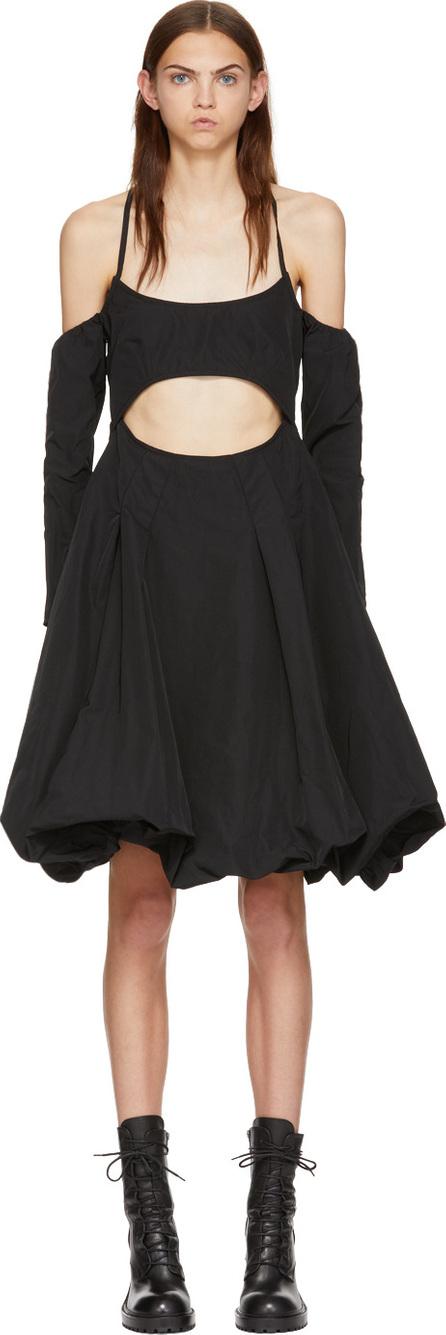Marques'Almeida Black Drill Cut-Out Puff Dress