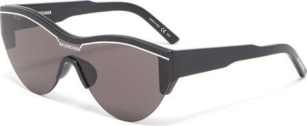 Balenciaga Contrast browline acetate cat eye sunglasses