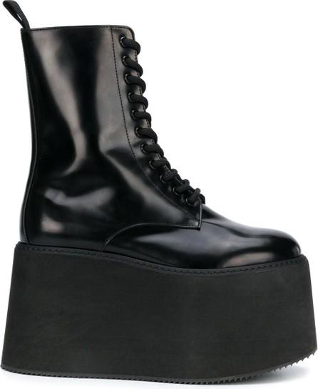 Moschino Platform wedge combat boots