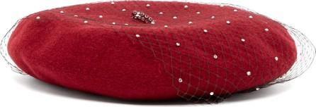 Benoît Missolin Swarovski crystal-embellished wool beret