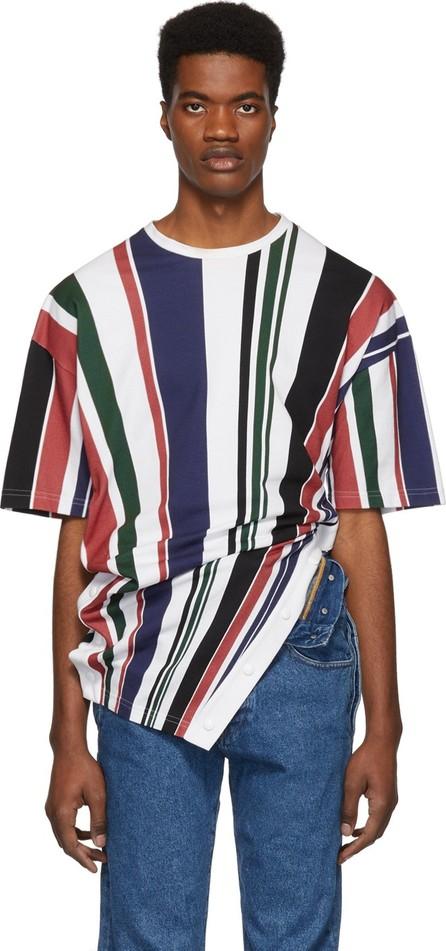 Diesel Red Tag Multicolor Glenn Martens Edition Striped Piqué T-Shirt