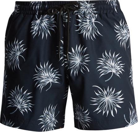 Commas Fan leaf-print swim shorts