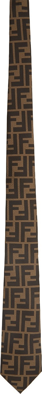 Fendi Brown 'Forever Fendi' Tie