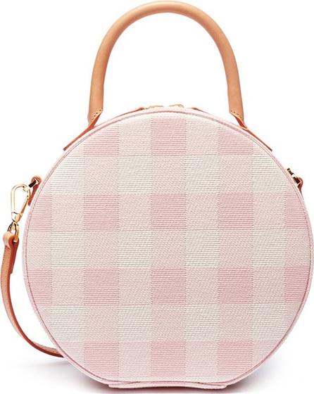 'Circle' gingham check canvas crossbody bag