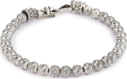 Emanuele Bicocchi Bead silver bracelet