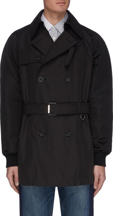 Alexander McQueen Belted double breasted bomber sleeve jacket