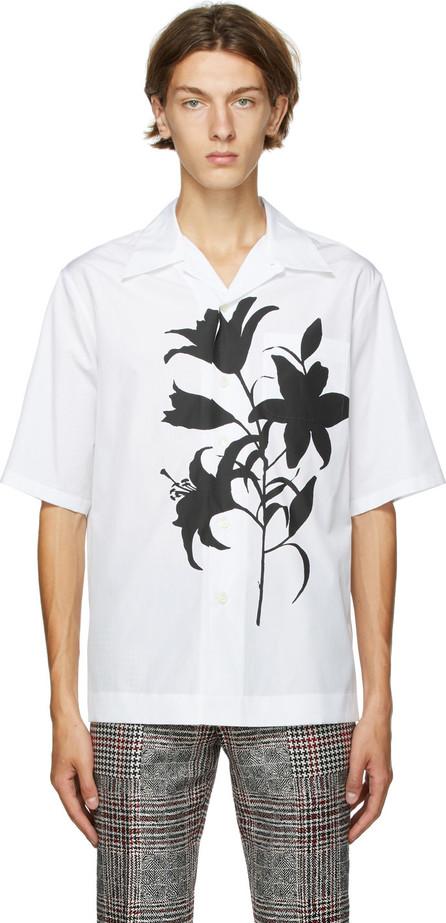 Alexander McQueen White & Black Floral Silhouettes Shirt