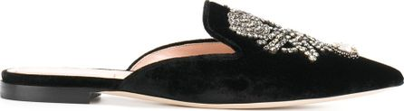 Alberta Ferretti embellished pointed slippers