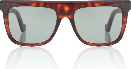 LOEWE Leather-trimmed acetate sunglasses