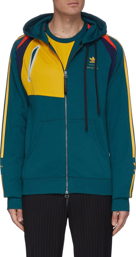 adidas x BED J.W. FORD Colourblock stripe outseam hooded jacket