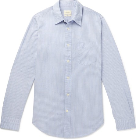 Bellerose Slim-Fit Striped Cotton-Poplin Shirt