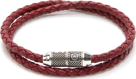 Tateossian 'Lucky Me' double wrap thin leather bracelet