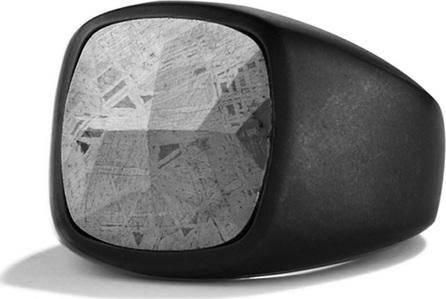 David Yurman Men's Signet Ring with Meteorite
