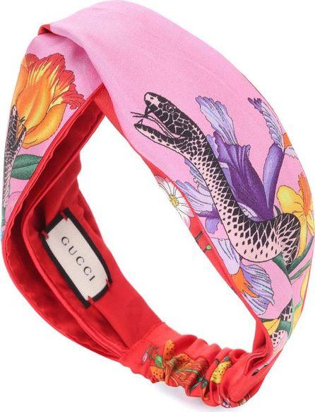 Gucci Printed silk headband