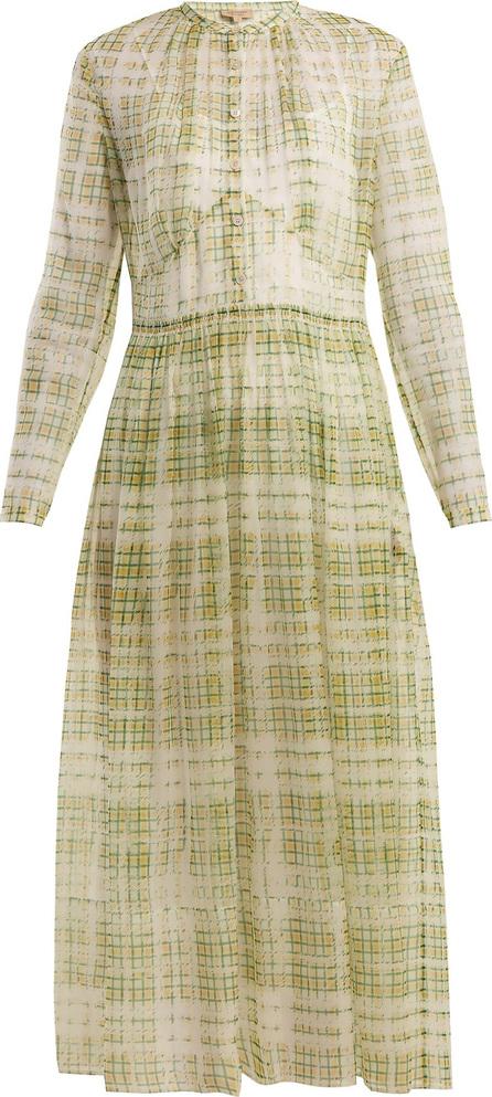 Burberry London England Adela scribble checked sheer-silk dress